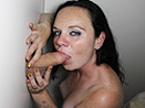 Andria in the nasty Glory Hole