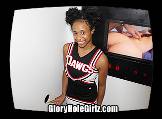 Ivy Teen CheerleaderSucking Cock at the Glory Hole