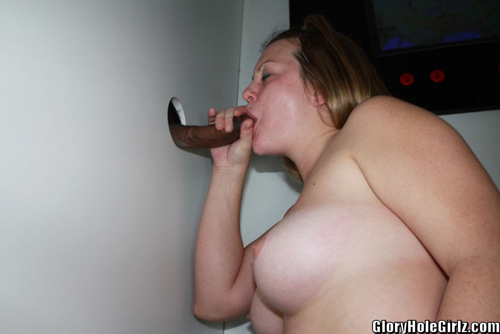 Bbw at glory hole